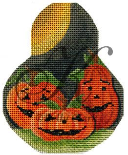 click here to view larger image of Pumpkin Patch on a Pear (hand painted canvases)