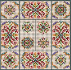 click here to view larger image of Folk Art Patterns (hand painted canvases)