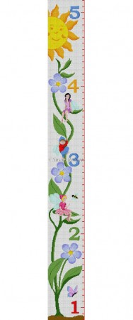 click here to view larger image of Fairies Growth Chart (hand painted canvases)