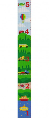 click here to view larger image of Vehicles Growth Chart (hand painted canvases)