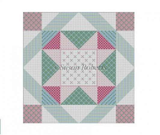 click here to view larger image of Patchwork Star (hand painted canvases)