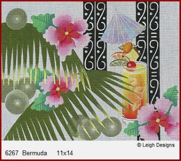 click here to view larger image of Bermuda (hand painted canvases)