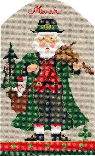 click here to view larger image of March St. Paddy's Santa (hand painted canvases)
