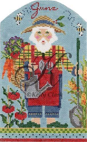 click here to view larger image of June Gardening Santa Stitch Guide (books)