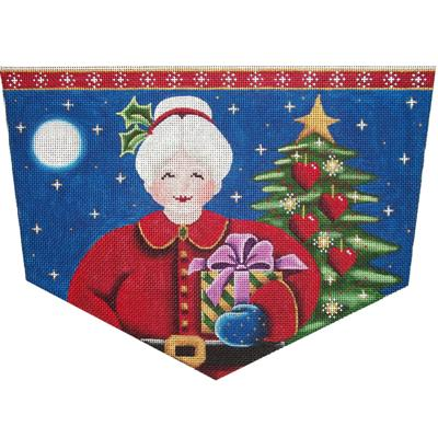 click here to view larger image of Mrs Claus Cuff - 18 Mesh (hand painted canvases)