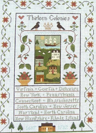 click here to view larger image of Thirteen Colonies (hand painted canvases)