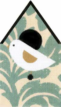 Floral Bird House hand painted canvases