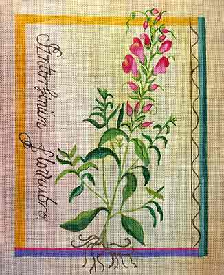 click here to view larger image of Besler Snapdragon (hand painted canvases)