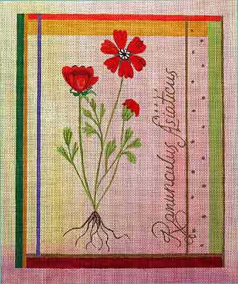 click here to view larger image of Besler Poppy (hand painted canvases)