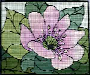 click here to view larger image of Hepatica (hand painted canvases)