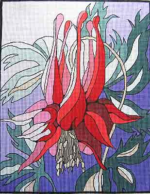 click here to view larger image of Fuchsia (hand painted canvases)