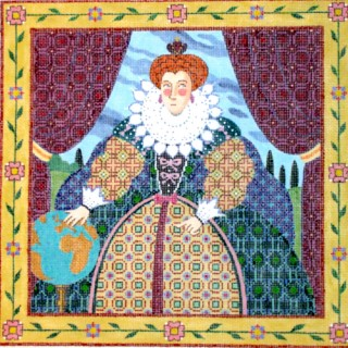 click here to view larger image of Queen Elizabeth (hand painted canvases)