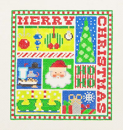 click here to view larger image of Christmas Sampler (hand painted canvases)