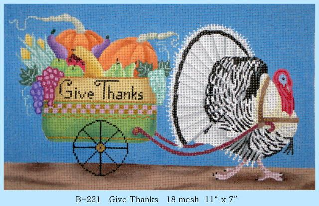 click here to view larger image of Give Thanks (hand painted canvases)