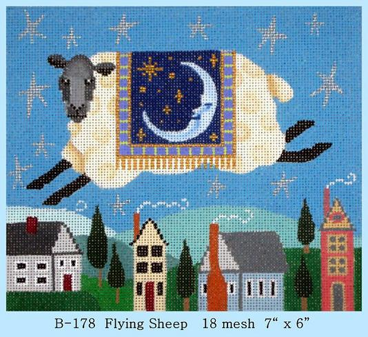 Flying Sheep hand painted canvases