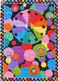 click here to view larger image of Dot Clock - 18ct (hand painted canvases)