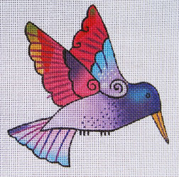 Purple Hummingbird hand painted canvases
