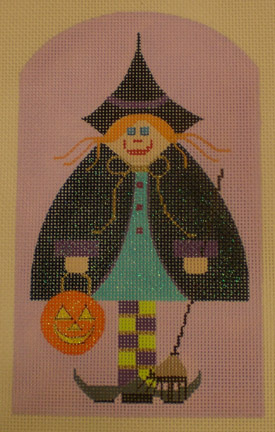 click here to view larger image of Little Witch (hand painted canvases)
