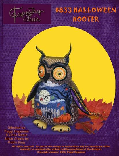 click here to view larger image of Halloween Hooter Stitch Guide (books)