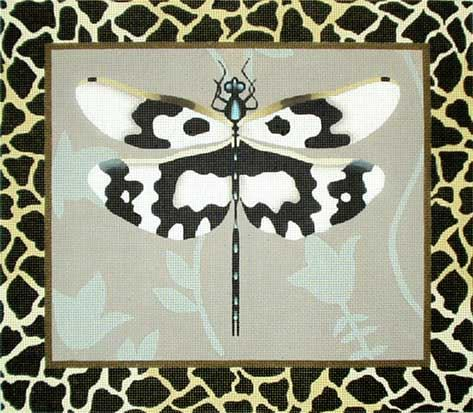 click here to view larger image of Animal Print Dragonfly (hand painted canvases)