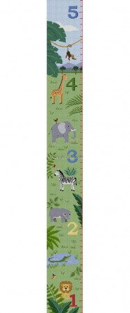 click here to view larger image of Animal Savannah Growth Chart (hand painted canvases)