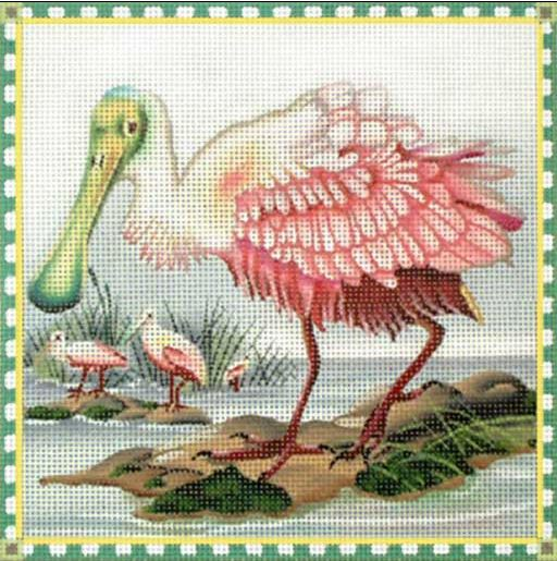 click here to view larger image of Spoonbill (hand painted canvases)