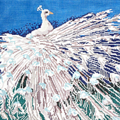 click here to view larger image of Albino Peacock (18ct) (hand painted canvases)