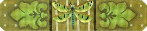 click here to view larger image of Green Dragonfly Bracelet (hand painted canvases)