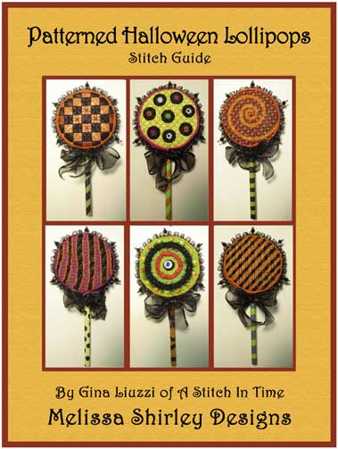 click here to view larger image of Patterned Hallowen Lollipops Stitch Guide (books)