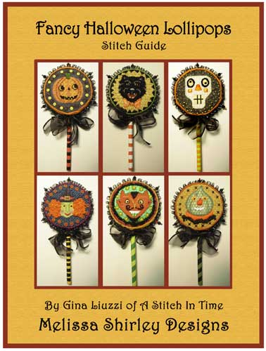 click here to view larger image of Fancy Halloween Lollipops Stitch Guide (books)