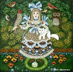 click here to view larger image of Bird Girl (hand painted canvases)