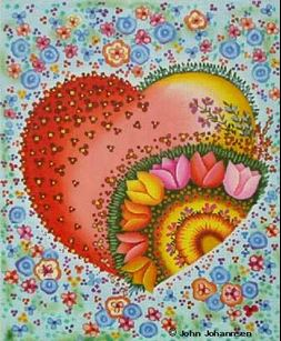 click here to view larger image of Bright Heart (hand painted canvases)
