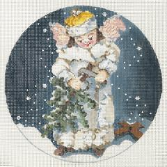 click here to view larger image of Angel Preparing Tree (hand painted canvases)