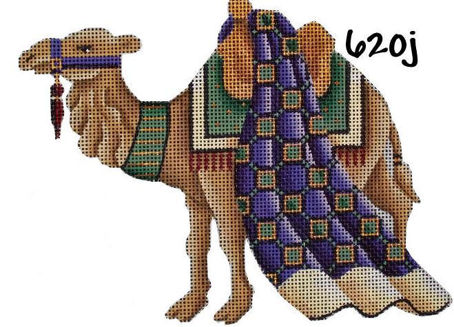 click here to view larger image of Basket Nativity - Green Camel (hand painted canvases)
