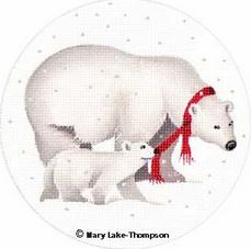 click here to view larger image of Polar Bears (hand painted canvases)