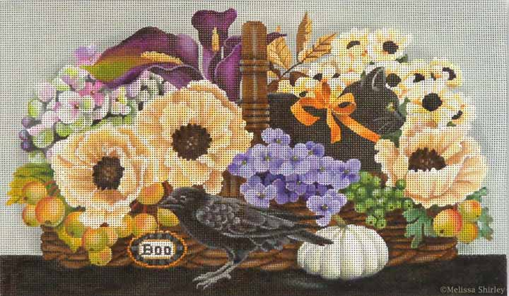 click here to view larger image of October Basket (hand painted canvases)