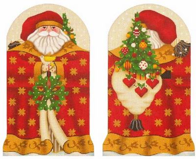 click here to view larger image of Golden Star Santa (hand painted canvases)