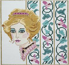 click here to view larger image of Victorian Illusion (hand painted canvases)