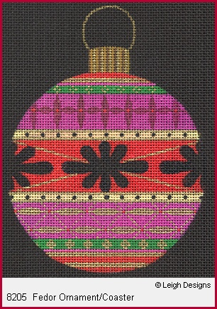 click here to view larger image of Fedor Ornament/Coaster (hand painted canvases)
