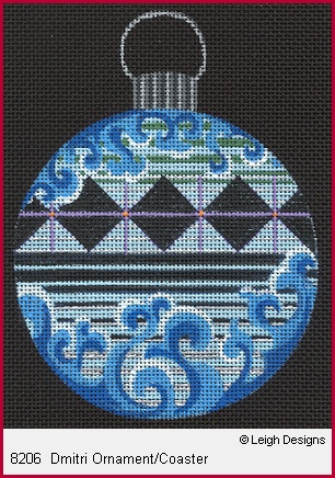 click here to view larger image of Dmitri Ornament/Coaster (hand painted canvases)