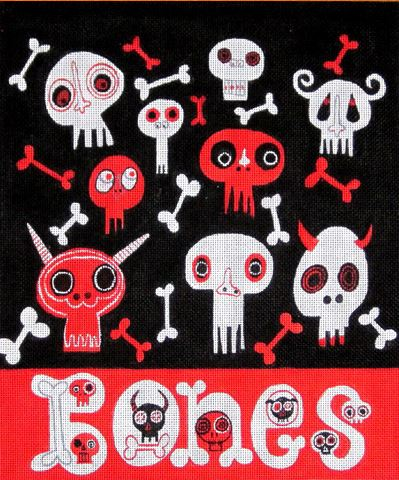 click here to view larger image of Bones (hand painted canvases)