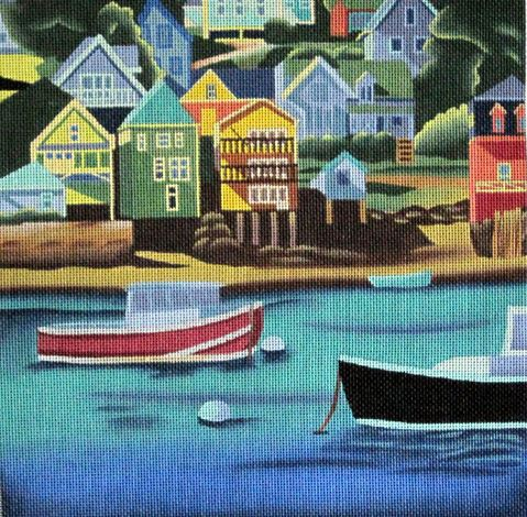click here to view larger image of Lobster Boats (hand painted canvases)