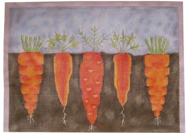 click here to view larger image of Eat Your Carrots (hand painted canvases)