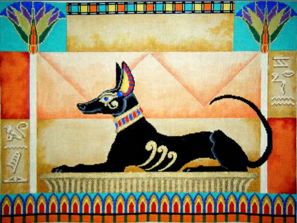 click here to view larger image of Pharoah Hound (hand painted canvases)