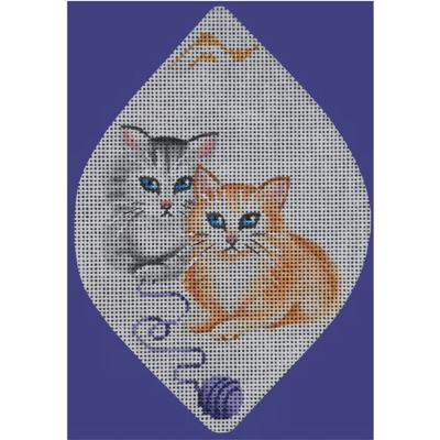 click here to view larger image of Whiskers on Kittens (hand painted canvases)