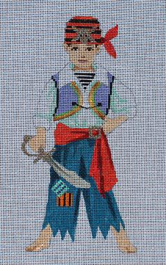 click here to view larger image of Kids Masquerade - Pirate (hand painted canvases)
