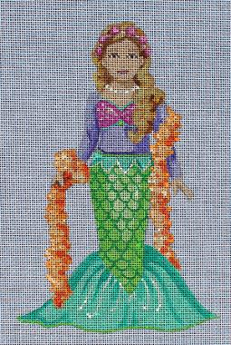 click here to view larger image of Kids Masquerade - Mermaid (hand painted canvases)