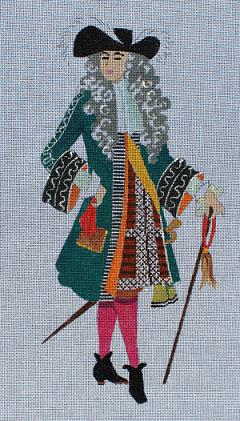 click here to view larger image of Man in Musketeer Garb (hand painted canvases)
