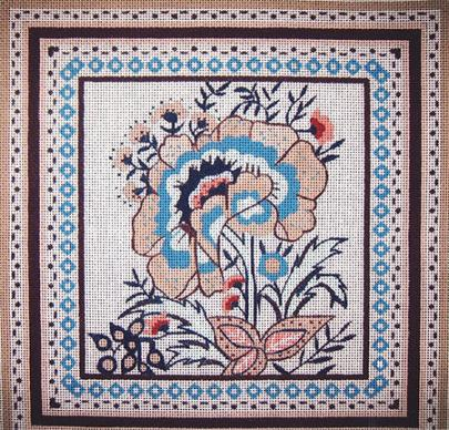 click here to view larger image of Oriental Floral (hand painted canvases)