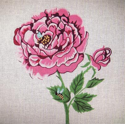 click here to view larger image of Rose (hand painted canvases)